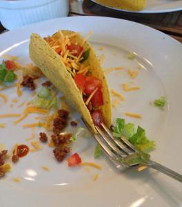 Vad det månne tacohållarfunktionen hos en gaffel?