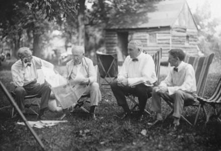 Henry Ford_Thomas Edison_Warren G. Harding_Harvey Samuel Firestone