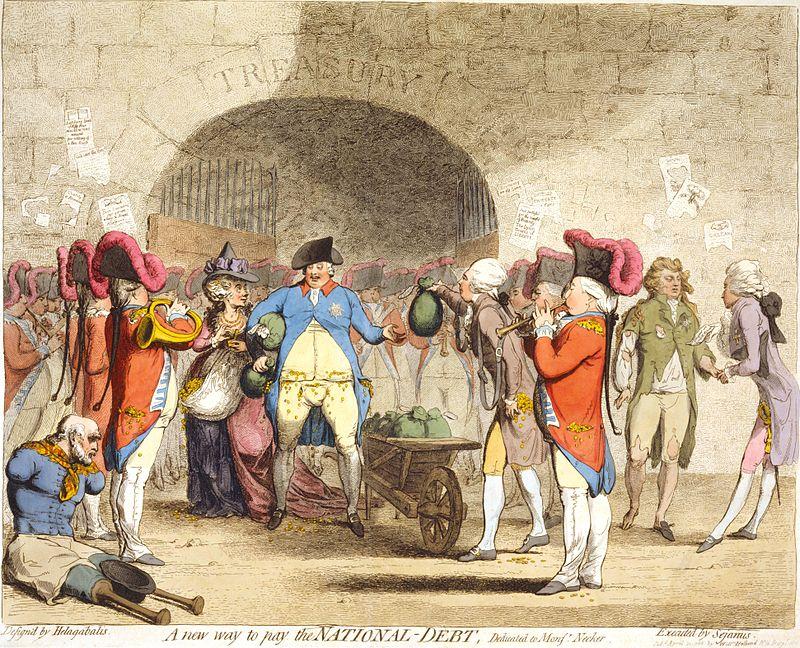 1786 James Gillray handed to King George III