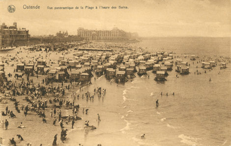 Bathing Machines, the beach, Oostende